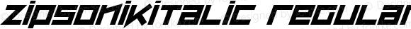 ZipSonikItalic Regular Macromedia Fontographer 4.1 26/05/2002