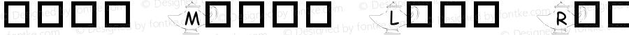101! Magik Lamp Regular Macromedia Fontographer 4.1 1/14/01