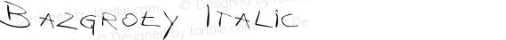 Bazgroły Italic preview image