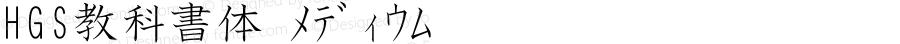 HGS教科書体 メディウム Ver.2.03 (c255-kkhp13-kkz12-j0kei10-kkf11-kks11-kkn10-kke11-kkv1̀Āᄄᰀ鬄HGS