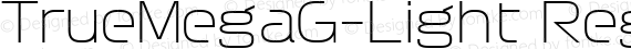 TrueMegaG-Light Regular preview image
