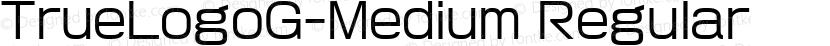 TrueLogoG-Medium Regular Preview Image