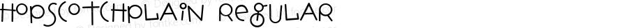 HopscotchPlain Regular Macromedia Fontographer 4.1.3 01/31/2003