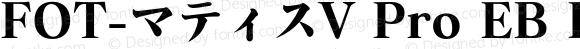 FOT-マティスV Pro EB Regular Version 1.000;PS 1;Core 1.0.35;makeotf.lib1.5.4750
