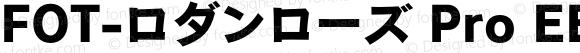 FOT-ロダンローズ Pro EB Regular Version 1.000;PS 1;Core 1.0.35;makeotf.lib1.5.4750
