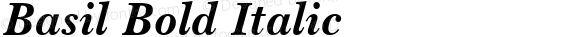 Basil Bold Italic