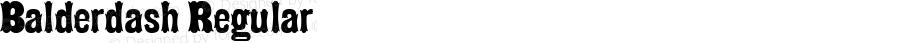 Balderdash Regular Macromedia Fontographer 4.1.5 9/16/00