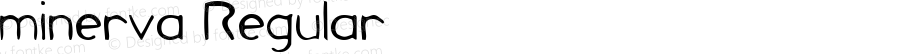 minerva Regular Macromedia Fontographer 4.1.5 16/7/03