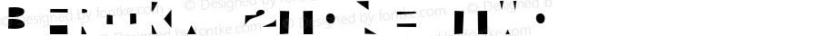 Bfrika 2Tone Two Macromedia Fontographer 4.1.2 10/14/03