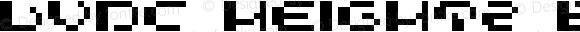 LVDC HEIGHT2 Bold Macromedia Fontographer 4.1J 04.1.31