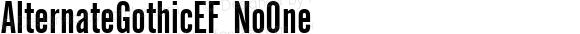 AlternateGothicEF NoOne Macromedia Fontographer 4.1 11/30/2002