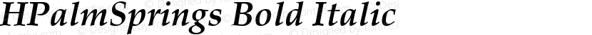 HPalmSprings Bold Italic Preview Image