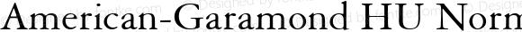 American-Garamond HU Normal 1.000