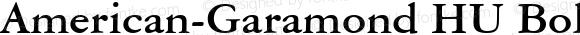 American-Garamond HU Bold 1.000