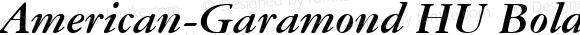 American-Garamond HU Bold Italic 1.000
