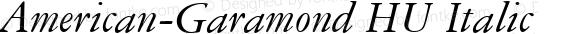 American-Garamond HU Italic 1.000