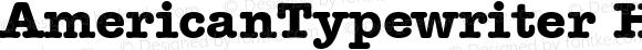 AmericanTypewriter HU Bold 1.000