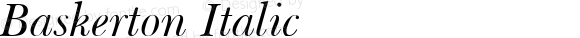 Baskerton Italic