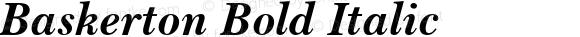 Baskerton Bold Italic