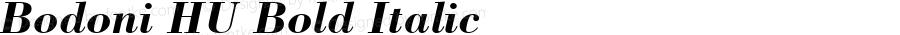 Bodoni HU Bold Italic