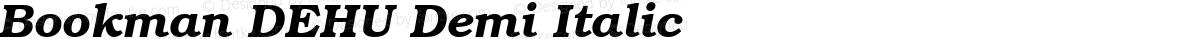 Bookman DEHU Demi Italic