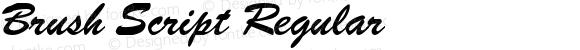 Brush Script Regular
