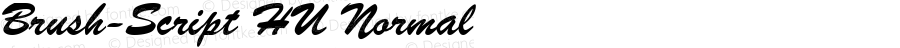 Brush-Script HU Normal 1.000