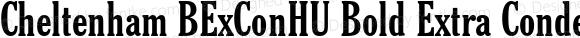 Cheltenham BExConHU Bold Extra Condensed