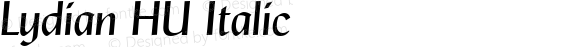 Lydian HU Italic 1.000