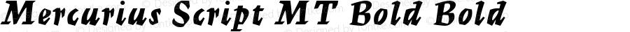 Mercurius Script MT Bold Bold Version 1.50