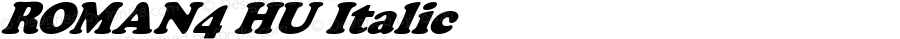 ROMAN4 HU Italic 1.000
