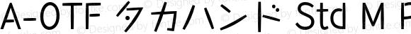 A-OTF タカハンド Std M Regular OTF 1.001;PS 1;Core 1.0.33;makeotf.lib1.4.1585