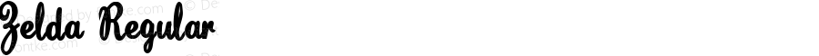 Zelda Regular Macromedia Fontographer 4.1.4 2/22/04