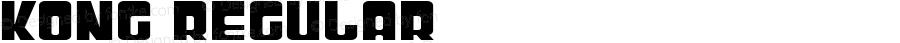 Kong Regular Macromedia Fontographer 4.1.4 8/13/04