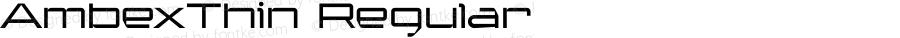 AmbexThin Regular Macromedia Fontographer 4.1.5 9/1/04