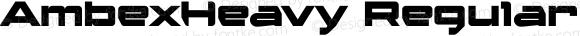 AmbexHeavy Regular Macromedia Fontographer 4.1.5 9/1/04