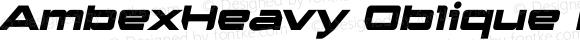 AmbexHeavy Oblique Regular Macromedia Fontographer 4.1.5 9/1/04