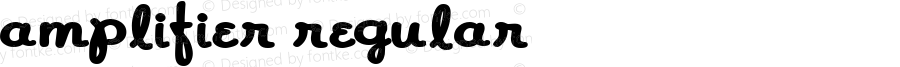 Amplifier Regular Macromedia Fontographer 4.1.4 10/28/04