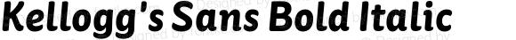 Kellogg's Sans Bold Italic