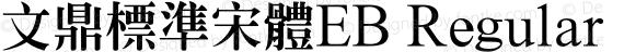 文鼎標準宋體EB Regular preview image