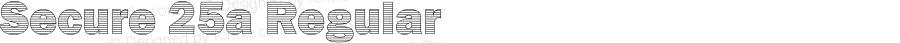 Secure 25a Regular Macromedia Fontographer 4.1 5/6/2005