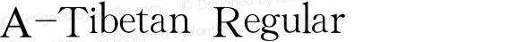 A-Tibetan Regular V1.0