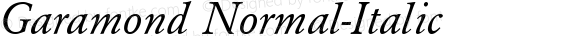 Garamond Normal-Italic