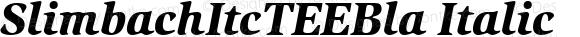 SlimbachItcTEEBla Italic Version 001.005