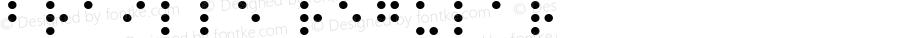 Braille Regular Macromedia Fontographer 4.1.5 5/17/98
