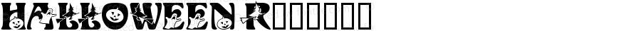 HALLOWEEN Regular Altsys Fontographer 4.0 9/7/93