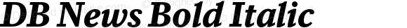 DB News Bold Italic