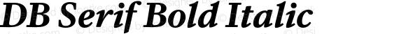 DB Serif Bold Italic