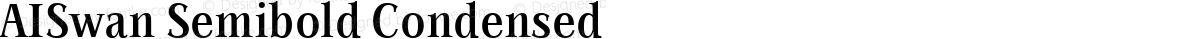 AISwan Semibold Condensed