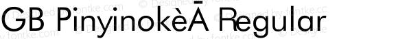 GB Pinyinok-A Regular 1.33